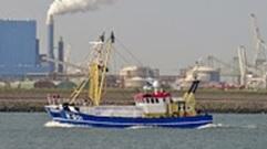 Impressie van actievoerende vissers in Rotterdam op 27-8-2016